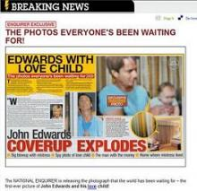 National Enquirer Releases Photo of John Edwards & Love Child | HULIQ