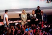 """X Factor"" judges: Simon Cowell, Britney Spears, Demi Lovato, L. A. Reid"