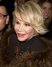 Joan Rivers at Michael Musto party
