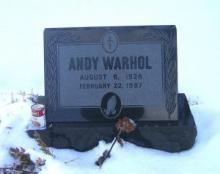 Andy Warhol gravesite.