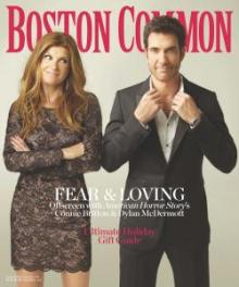 Boston Commons magazine cover Dec/Jan Connie Britton and Dylan McDermott