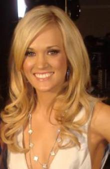 Country music singer and &quot;American Idol&quot; winner Carrie Underwood.