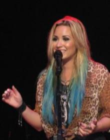 Demi Lovato in concert in Springfield, Ill., in August 2012.