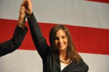 Elizabeth Halseth shortly after winning a Nevada Senate seat in 2010.
