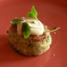 Garnished Crab Cake