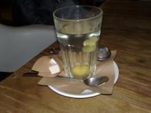Glass of traditional ginger tea