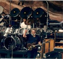 Grateful Dead at Red Rocks Amphitheatre in Morrison, Colorado, 1987.