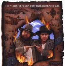 "Richard Lewis in the movie poster for the 1994 Western comedy film ""Wagons East!"