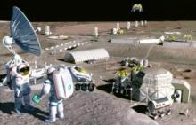 NASA concept of a lunar base, 1995