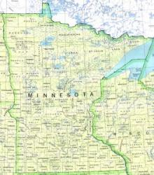 Map of Minnesota 1990