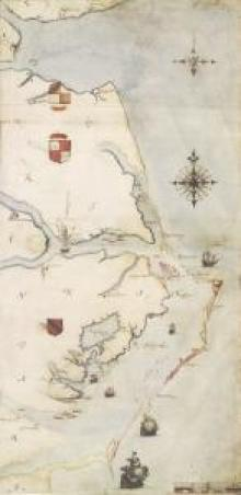 Virginia Pars map of Roanoke Colony, John White