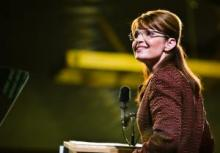 Sarah Palin in Dover, New Hampshire, 2008