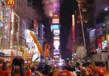 New Year's celebration in New York's Times Square, 2008
