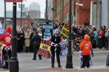 Westboro Baptist Church picket at Richmond (Va) Holocaust Museum.