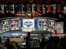 The third pick switched hands with less than a hour to go before the draft.