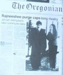Rajneeshee invasion happened 30 years ago in Oregon.