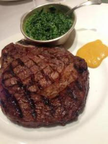 nigella lawson ribeye rare with english mustard and creamed spinach