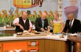 shark tank hosts on the chew