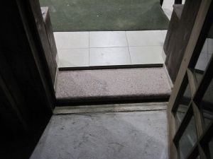 Poorly installed flooring