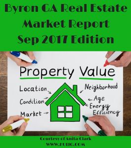 Byron GA Single Family Home Report - September 2017 Edition