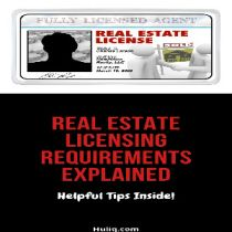 Real Estate Licensing Requirements