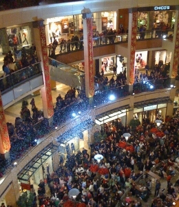 Black Friday in a mall