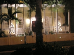Decorations at Truman Annex in Key West, Fla., photo
