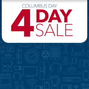 Best Buy Columbus Day 4 day sale