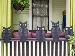 HGTV crafty owls decorating front porch