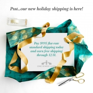 One Kings Lane Free Holiday Shipping Offer
