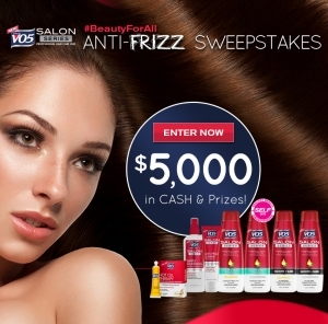 vo5 beauty for all anti frizz sweepstakes