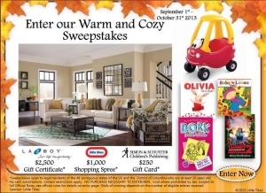 warm and cozy sweepstakes